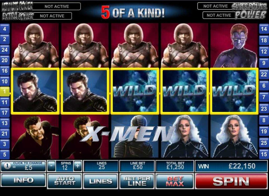 เกมมือถือได้เงินจริง x-men Slot